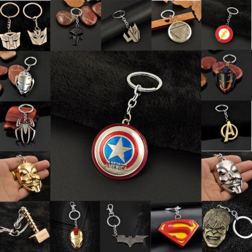 Charming The Avengers Marvel Captain America Shield Metal Keyring Keychain Hot 2