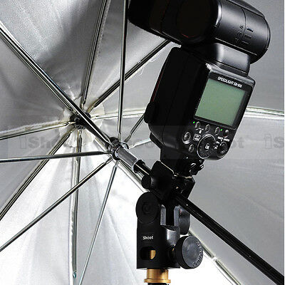 4 Of 6 Hot Shoe Mount Flash Bracket Umbrella Holder For Canon 600EX RT 580EX 430EX
