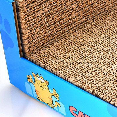 Cat Scratcher Sofa Lounge including free cat-nip Cardboard Scratch Post Cat Bed 4