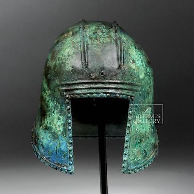 Greek Illyrian Bronze Hoplite Helmet w/ Art Loss Cert. Lot 16A