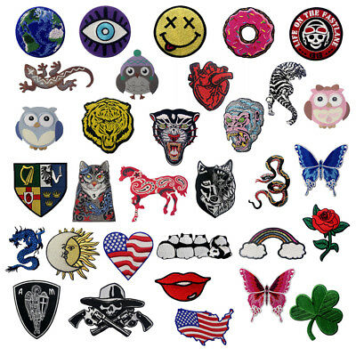 Embroidered Patches Iron Sew On Patches transfers Badges appliques Lots Pattern 2