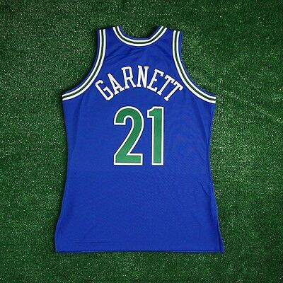751e4bde3f7a ... 1995-96 Kevin Garnett Minnesota Timberwolves MITCHELL NESS Authentic  Blue Jersey 2