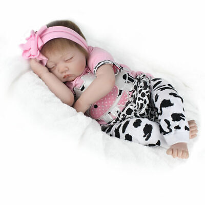 "22""'Girl Reborn Baby Dolls Vinyl Silicone Realistic New Arrival Newborn Doll Toy 3"