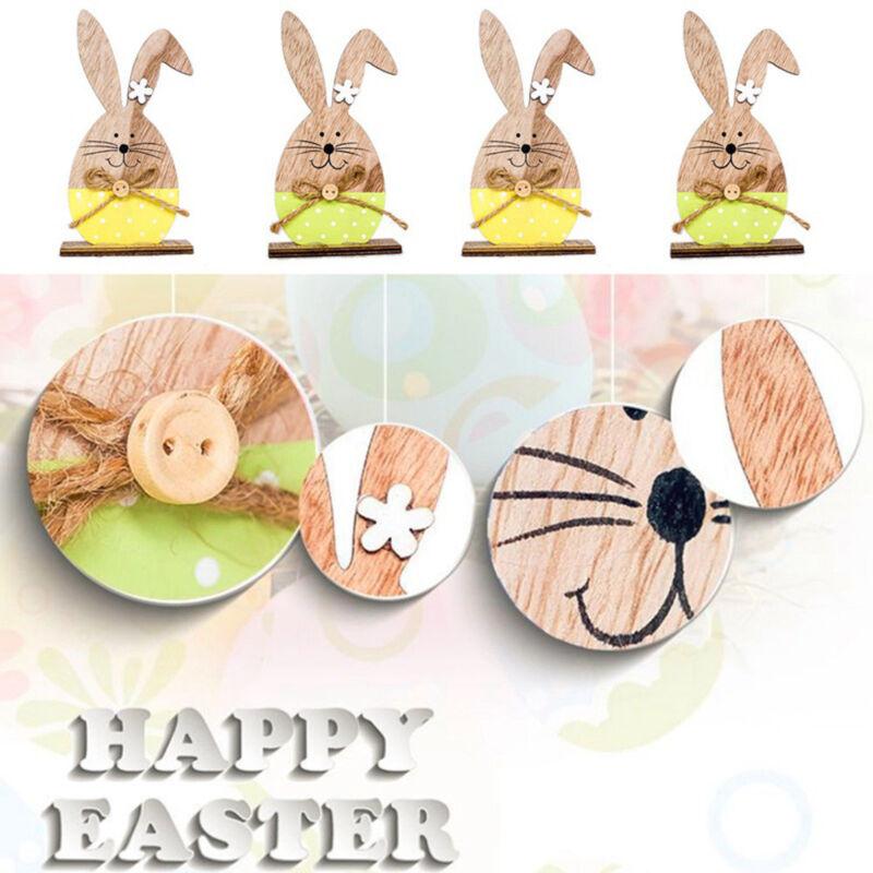 Blesiya 50pcs Wooden Egg Easter Festival Party Gift Tags Plaque Hanger DIY Craft