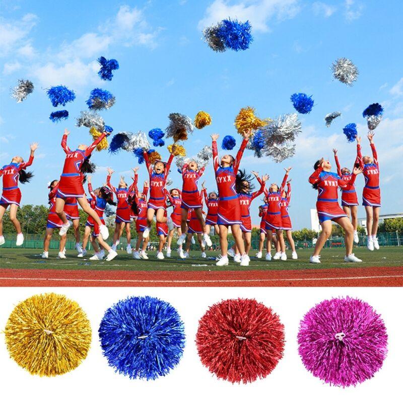 6pcs New Poms Cheerleader Cheerleading Cheer Pom Pom Dance Party Club Decoration