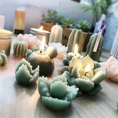 Succulent Cacti Candle Mold Moulds Soap Molds DIY Craft Plaster Silicone Molds 10