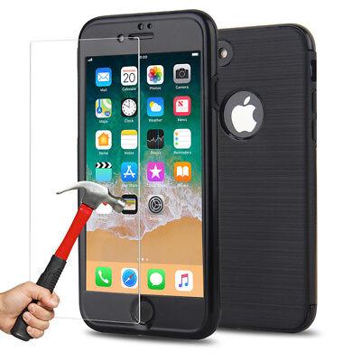 Coque Etui Intégrale 360° Protection iPhone 6/6S/Plus/7/8/X + Film Verre trempé 11