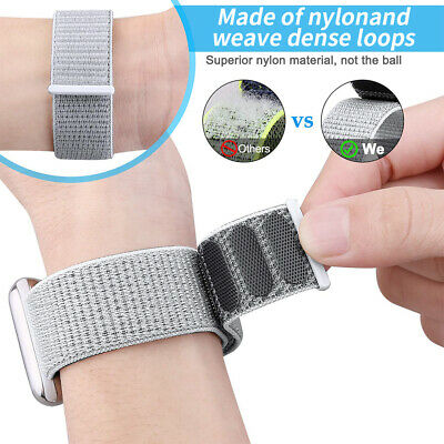 Sport Loop Band Nylon Strap For Apple Watch Series 4 3 2 1 42mm 38mm 44mm 40mm 3