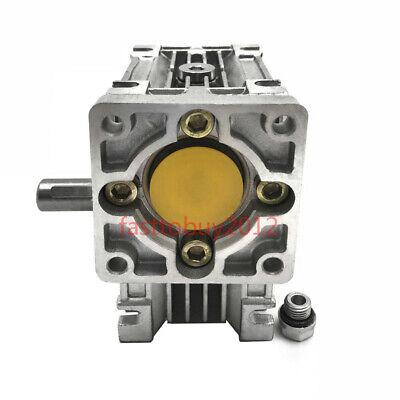 50:1 Worm Worm Gearbox Reducer,Nema23 Flange 11mm Input,NMRV030 Gear for Stepper 4