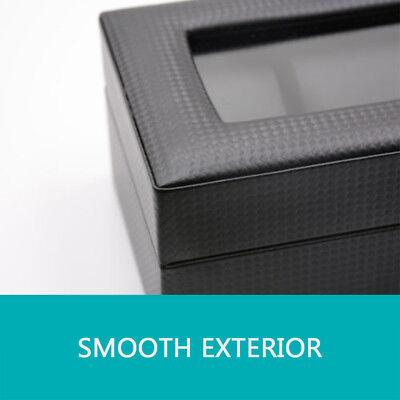 🔥6 Grids Watch Box Carbon Fiber Storage Case Jewelry Display Organizer Gift 6