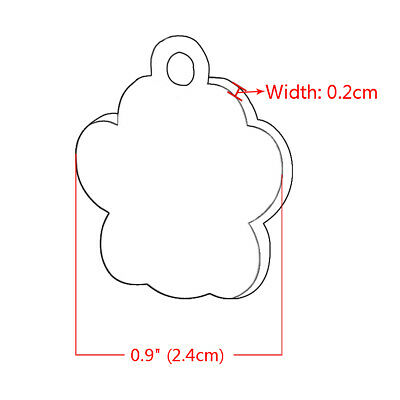 Engraved Pet Dog Tags Custom Cat ID Name Tags for Pets Personalized FREE S M L 12