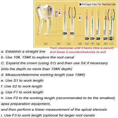6Pcs/box Blue Dental Heat Activated Niti Endodontic Root Canal Files 25mm Mixed 5