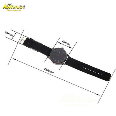 Men's Fashion Sport Stainless Steel Case Leather Band Quartz Analog Casual Watch 5