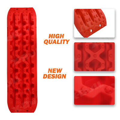 X-BULL Recovery tracks Sand Track Red Pair 10T Black Car Accessories 4x4 4WD 3
