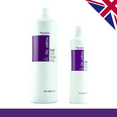 Fanola No Yellow Shampoo | 60ml,100ml,350ml,1000ml| Blonde Hair | Grey Hair
