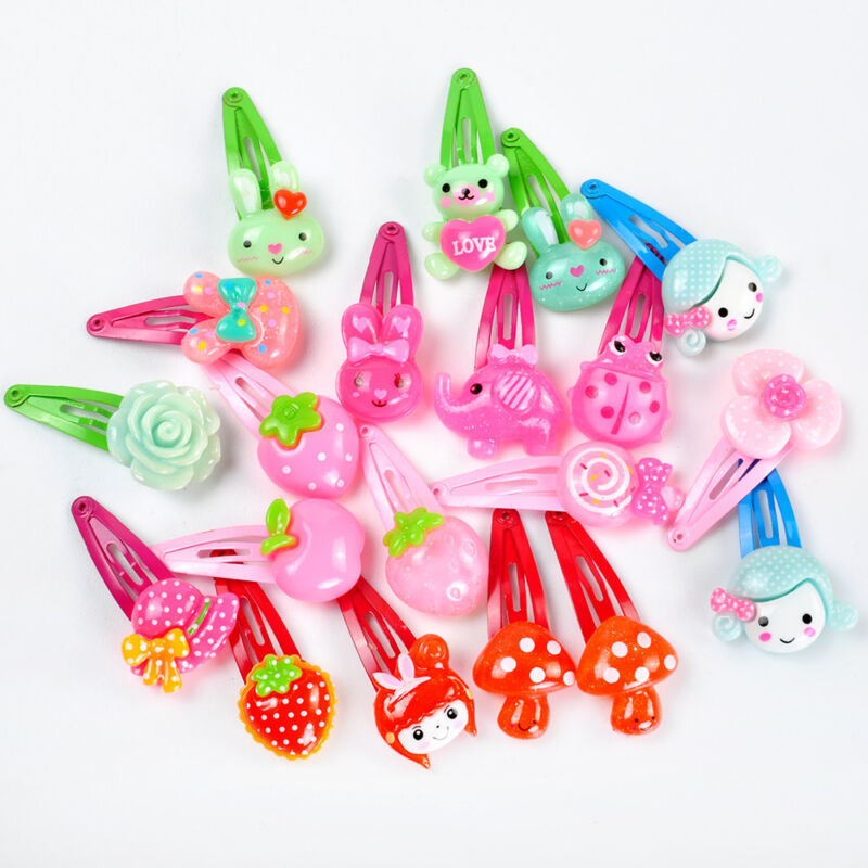 Wholesale 20pcs/Sets Mixed Cartoon Baby Kids Girls HairPin Hair Clips Jewelry- 5
