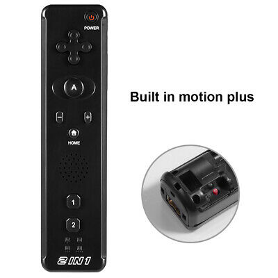 1x / 2x 2 in 1 Built in Motion Plus Remote Controller For Nintendo Wii & Wii U 4
