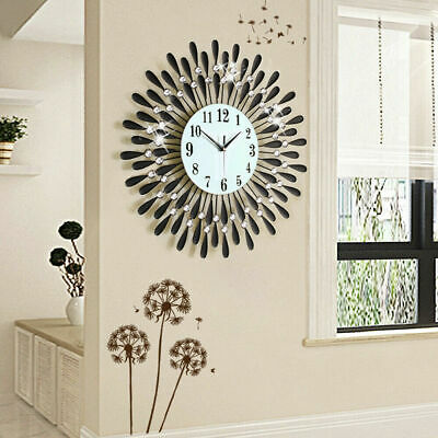 60Cm Extra Large Metal Diamond Wall Clock Big Giant Open Face Round Hangings Diy 2