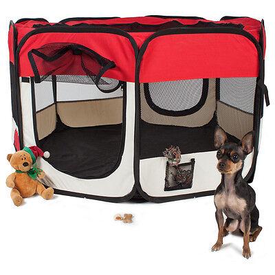 Parc à chiots chien chaton chat enclos pour chiens rouge 3