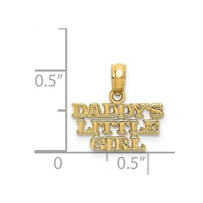 14k Yellow Gold Daddys Little Girl Casted Charm Pendant 21mmx16mm