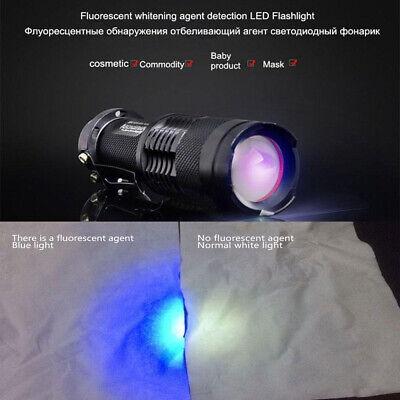 UV Ultra Violet LED Flashlight Blacklight Light 395 nM Inspection Lamp Torch 5