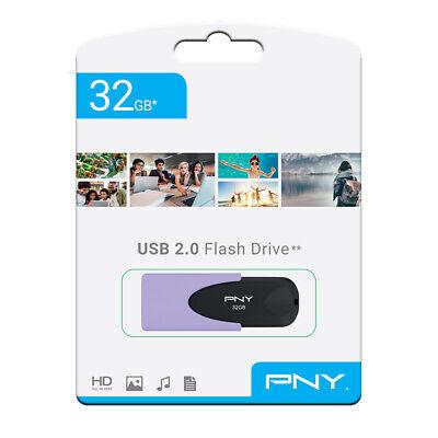 PNY Pastel 32gb USB 2 2.0 Flash Drive Memory Stick Pen Storage Backup Drive 10