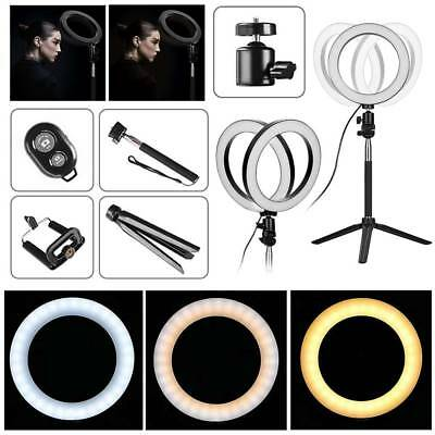 LED Studio Ring Light Photo Video Dimmable Lamp Light Tripod Selfie Camera Phone 4