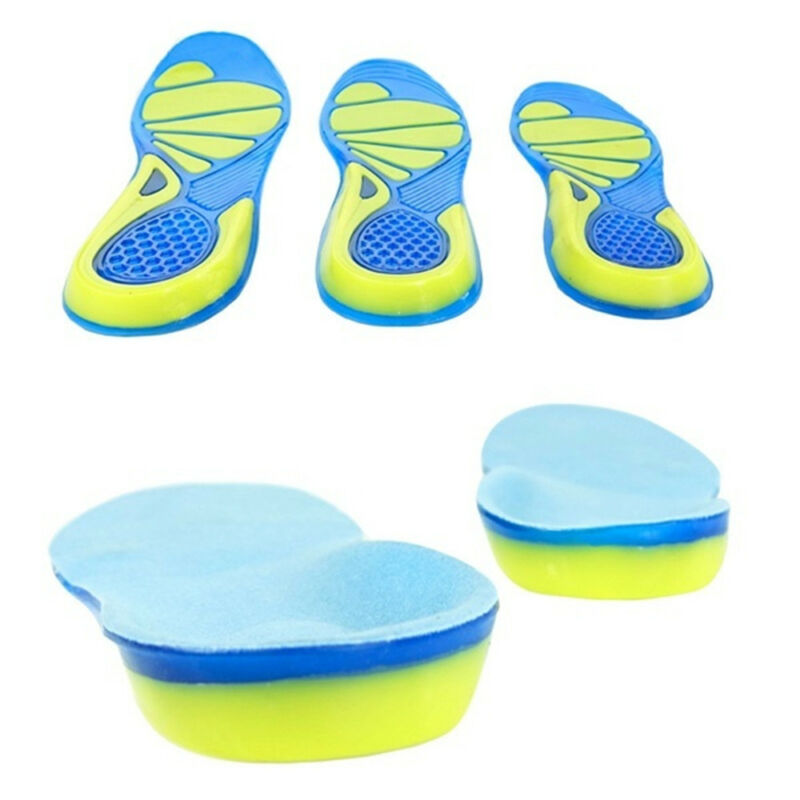Silicon Gel Insoles Foot Care Pads for Plantar Fasciitis Heel Spur Sport New 3