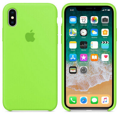 Original Silicone Leather Case For iPhone XR XS Max 6 7 8 Plus Genuine OEM Cover 4