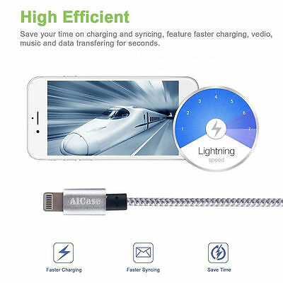 Certified Lightning Cable 3 6 10 FT MFi USB Charger for iPhone XS Max 7 6s Plus 4