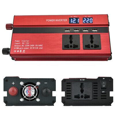1500/6000W Caravan Power Inverter DC 12V to AC 220V Converter 4 USB 3 Socket UK 3