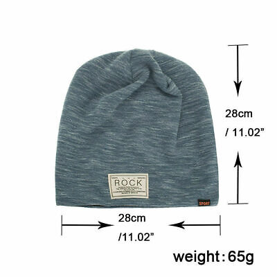 e7533b55 ... Winter Autumn Beanies Hat Unisex ROCK Label Warm Soft Knitting Cap Hats  3