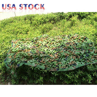 Woodland Camouflage Netting Military Army Camo Hunting Shooting Hide Cover Net 9