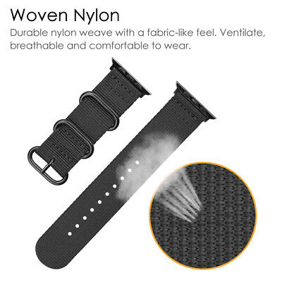For iWatch Apple Watch Series 3 2 1 42mm Nylon Woven Band Strap Replacement 10