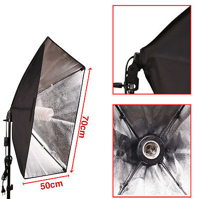2x 135W Continuous Lighting Softbox Photography Studio Soft Box Light Stand Kit 6