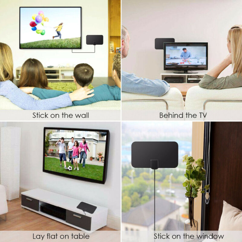 1/2 960 Miles Indoor Digital TV HDTV Antenna [2019 Latest] UHF/VHF/1080p 4K 11