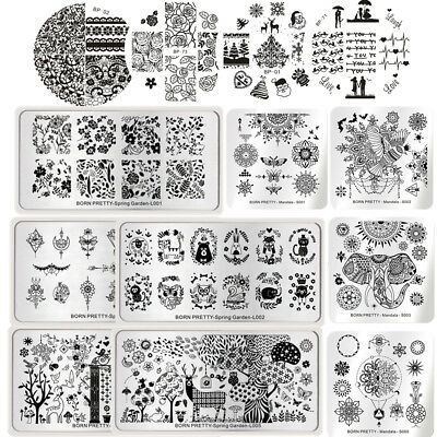 BORN PRETTY Ongles Stamping Pochoir Plaque Modèle Nail Art Ongle Plate Manucure 2