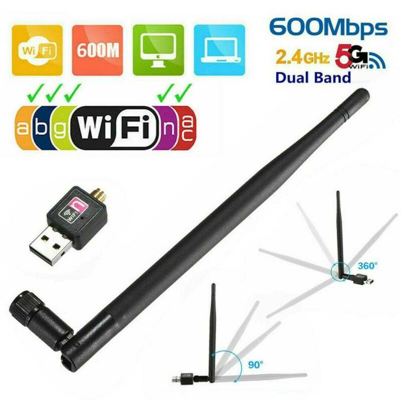 1200Mbps Wireless USB Wifi Adapter Dongle Dual Band 2.4G/5GHz with Antenna Call 3