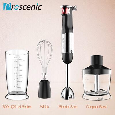 800W 4 in 1 Electric Immersion Hand Blender Set 9 Speed Kitchen Food Stick Mixer 12