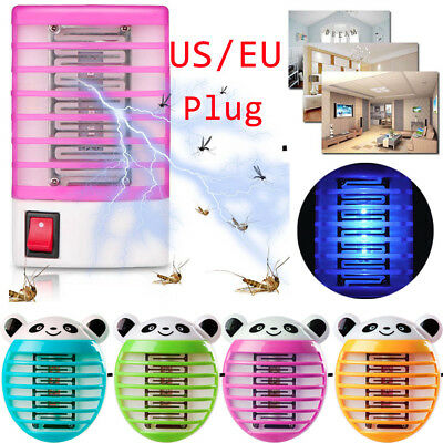 LED Socket Electric Mosquito Fly Bug Insect Killer Zapper Night Lamp Light C 12
