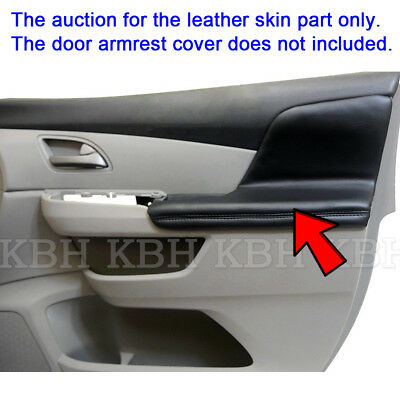 2pcs Door Armrest Replacement Cover Leather For Honda Odyssey 2011-2017 Black 2