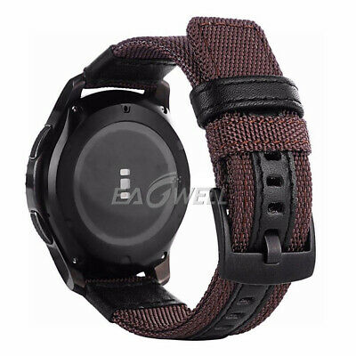 For Samsung Galaxy Watch Gear S3 SPORT 42 / 46mm Leather Nylon Watch Band Strap 7