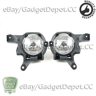 For 2013 2014 2015 Toyota Rav4 Front Bumper Clear Lens Fog Lights / Lamp L+R 2