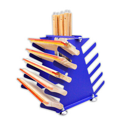 Desktop Siebdruck Squeegee Rack Spachtel Halter Veranstalter Regale Werkzeug 2
