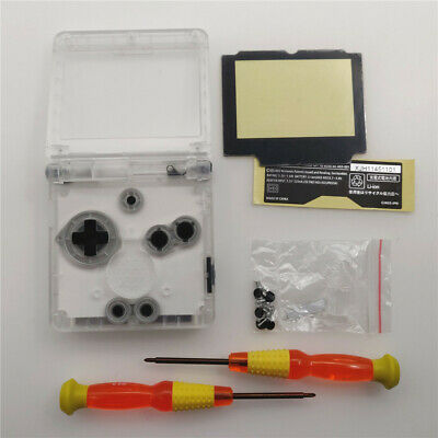 GBA SP Transparent White Shell Housing Case For Nintendo Game Boy Advance SP 2