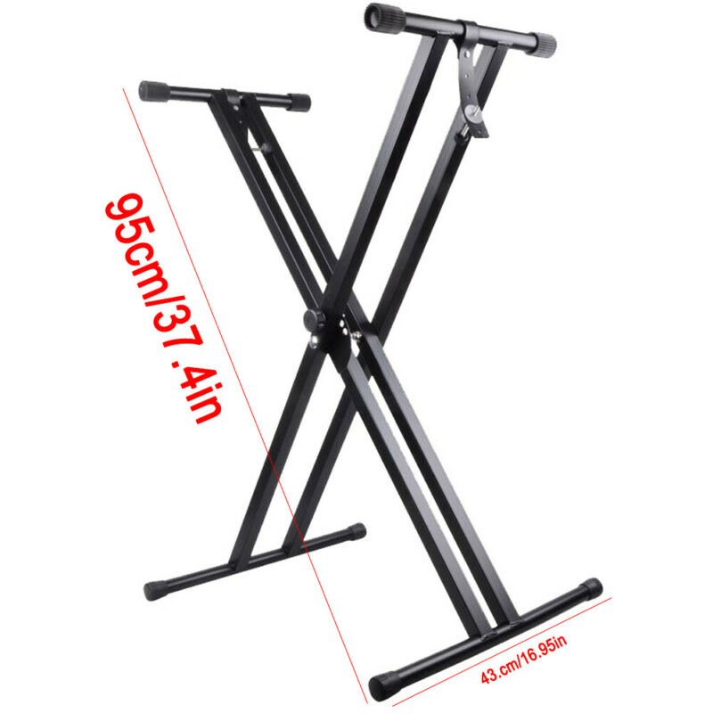 Electronic Piano X Stand Music Keyboard Standard Portable Rack Adjustables Metal 2