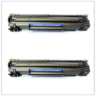 2 PK NON-OEM TONER CARTRIDGE HP CE285A M1212nf LASERJET 85A P1102W M1210 M1217