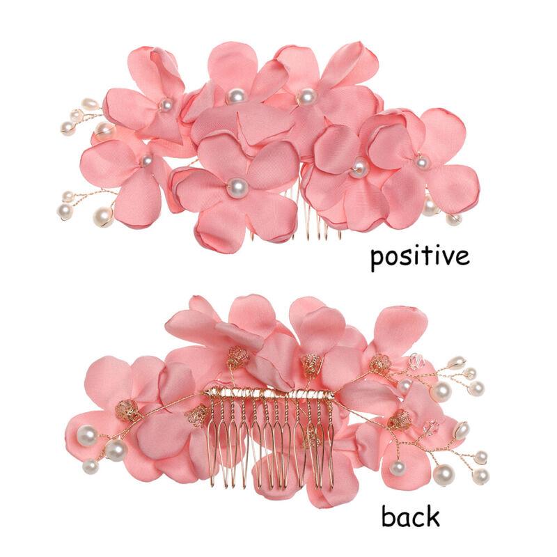 Bridal Wedding Fashion Pearls Flower Hair Barrette Clip Hairpin Accessories Gift 7