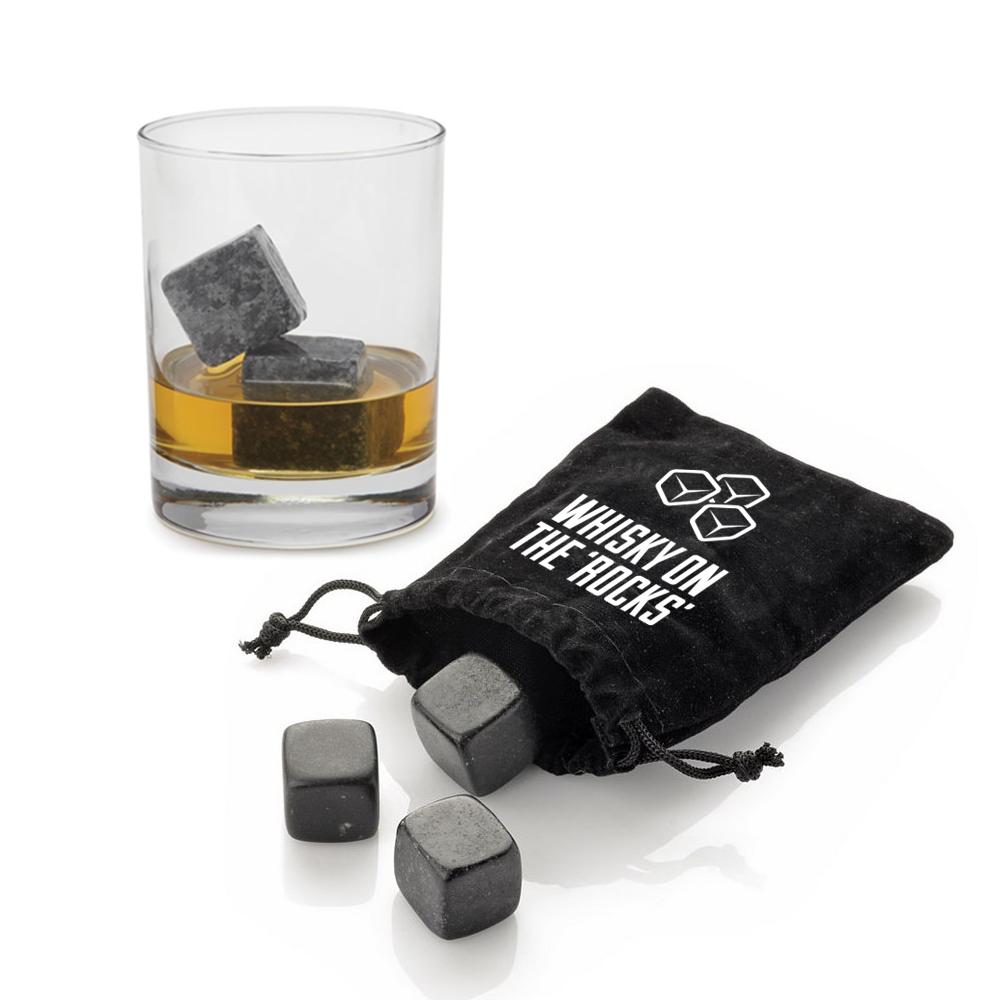 9x 18mm Pierres De Whisky GlaçOns Boissons Cooler Cubes Beer Rocks Granite V7Y6