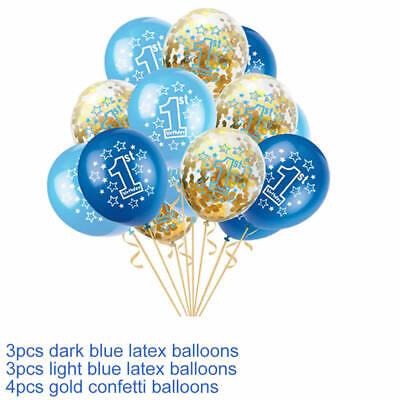 Happy 1st Birthday Balloons Bunting Banner Baby Boy First Birthday Party Decor 11